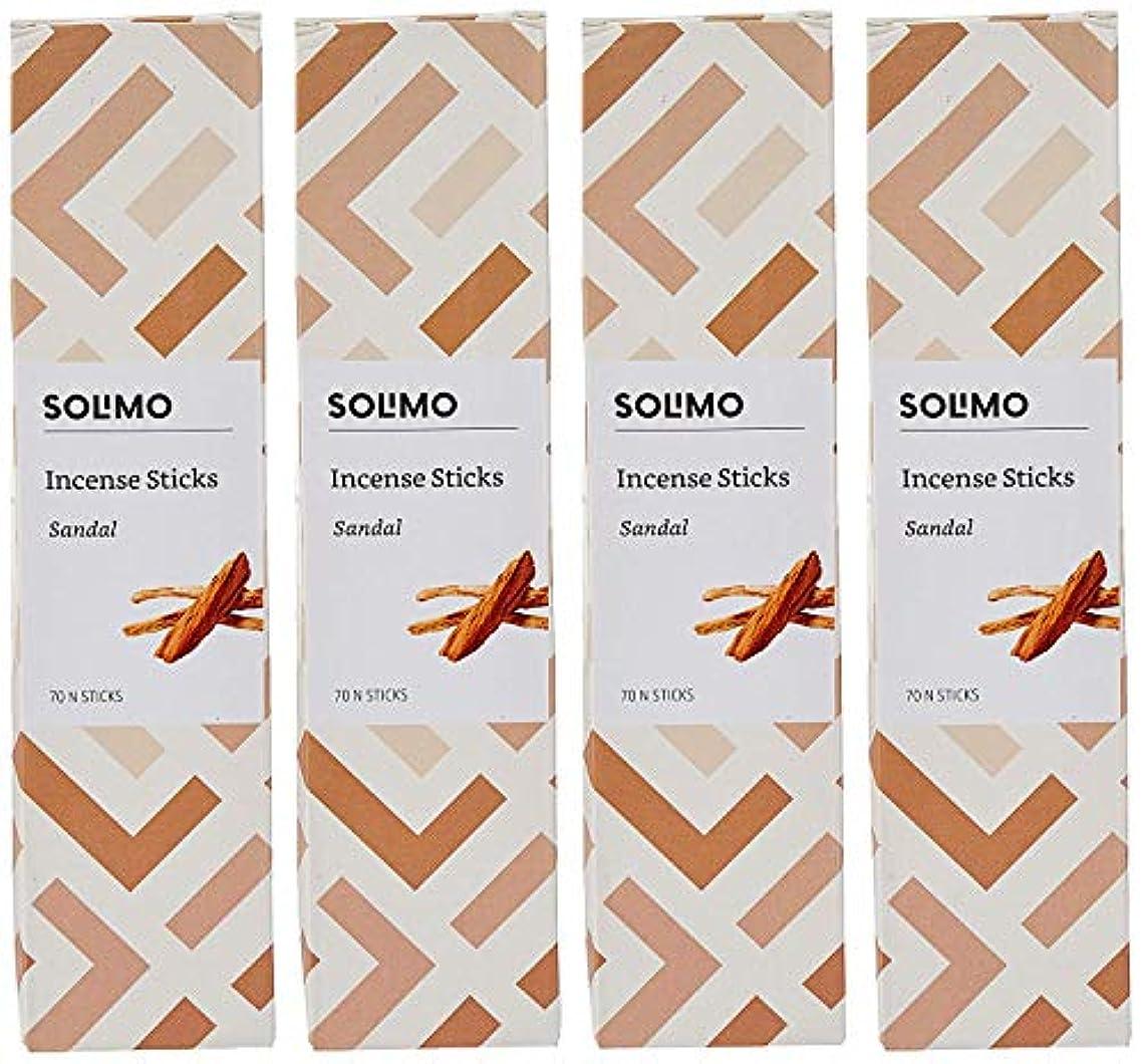 バンクプレビューバリーAmazon Brand - Solimo Incense Sticks, Sandal - 70 sticks/pack (Pack of 4)