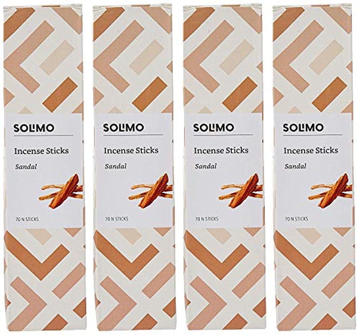 。一掃するギャップAmazon Brand - Solimo Incense Sticks, Sandal - 70 sticks/pack (Pack of 4)