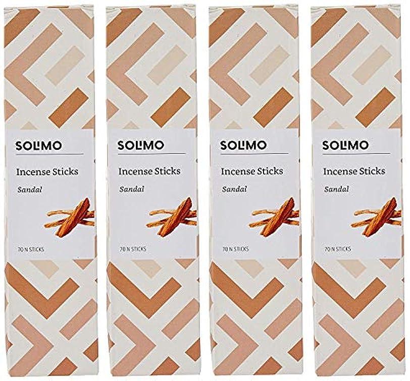 批判パーティー虫を数えるAmazon Brand - Solimo Incense Sticks, Sandal - 70 sticks/pack (Pack of 4)