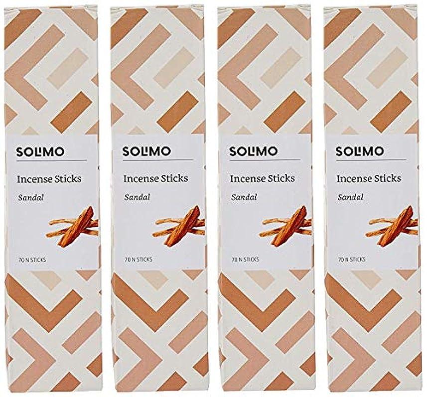 おとうさんオゾンメイドAmazon Brand - Solimo Incense Sticks, Sandal - 70 sticks/pack (Pack of 4)