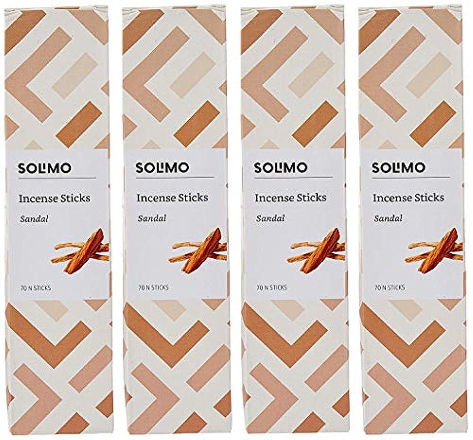 蓮鼓舞する製作Amazon Brand - Solimo Incense Sticks, Sandal - 70 sticks/pack (Pack of 4)