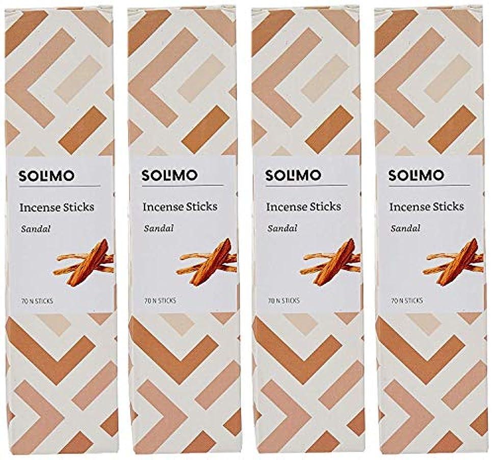 履歴書非常に葉っぱAmazon Brand - Solimo Incense Sticks, Sandal - 70 sticks/pack (Pack of 4)