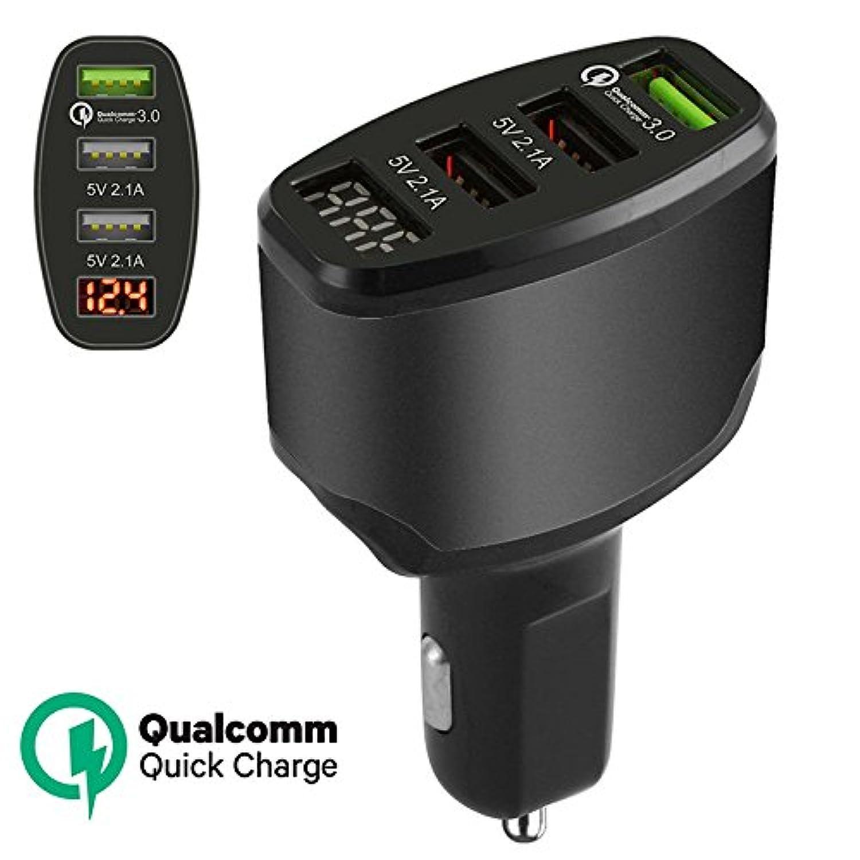 etbotu 3 - Port USB 2.1 A + 2.1 A + 3 a高速充電車の充電器アダプタユニバーサルスマート電話 ブラック KY-ELEC-03152018-C-126