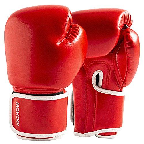 iOCHOW ボクシンググローブ 総合格闘技 ユニセックス 掌は通気 マイクロファイバーPUレザー