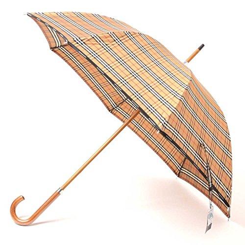 傘 バーバリーチェック 木ハンドル 60サイズ 全長90.5cm 親骨60cm バーバリー 71853 BURBERRY ベージュ メンズ