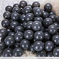 momowu 2.75インチ フタル酸フリー 楽しい 耐クラッシュボール ソフトPEエア充填 オーシャンボール プレイボール ピットボール ベビー キッズ トンネル/テント/プール/スイムジャンプハウス ダークグレー 100個