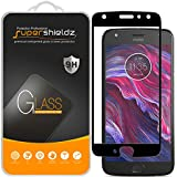 Supershieldz (2 Pack) for Motorola Moto X4 and Moto X (4th Generation) Tempered Glass Screen Protector, (Full Screen Coverage