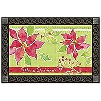 Christmas Flower MatMates Doormat #13315 [並行輸入品]