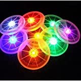 Margoth LED Bottle Drink Cup Flashing Lights Mat Coasters For Clubs Bars Wedding Party [並行輸入品]