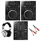 Pioneer CDJ-350 BK DJM-350 BK + HPX2000 DJ 初心者セット ブラック (パイオニア)