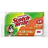 スコッチブライト キッチンスポンジ 抗菌 リーフ型 オレンジ SS-72KE