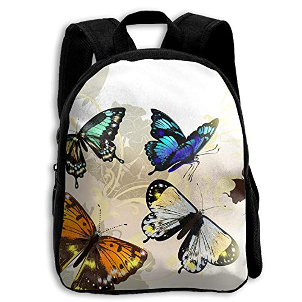 硫黄みがきます活性化キッズ リュックサック バックパック キッズバッグ 子供用のバッグ キッズリュック 学生 動物柄 蝶 影 蝶々 アウトドア 通学 ハイキング 遠足