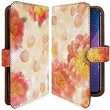 【KEIO】R11s 手帳型 ケース カバー 牡丹 はながら 花模様 ぼたん r 11 sケース r 11 sカバー アール 手帳型ケース 手帳型カバー 綺麗 花柄 フラワー [花 花びら/t0682]
