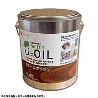 国産自然塗料 U-OIL for DIY(屋内・屋外共用)カラータイプ【Toy 24 colors】 - 2.5L (D59_Dネイビー)