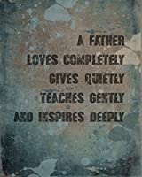 Father Loves Saying Photo Rustic Distressed Home Decor Office Man Cave Wall Art Print [並行輸入品]