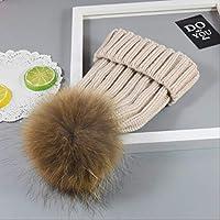 YAYA手作り鹿ニット帽子かぎ針編み服帽子小道具帽子46 CMに52 CMベージュ