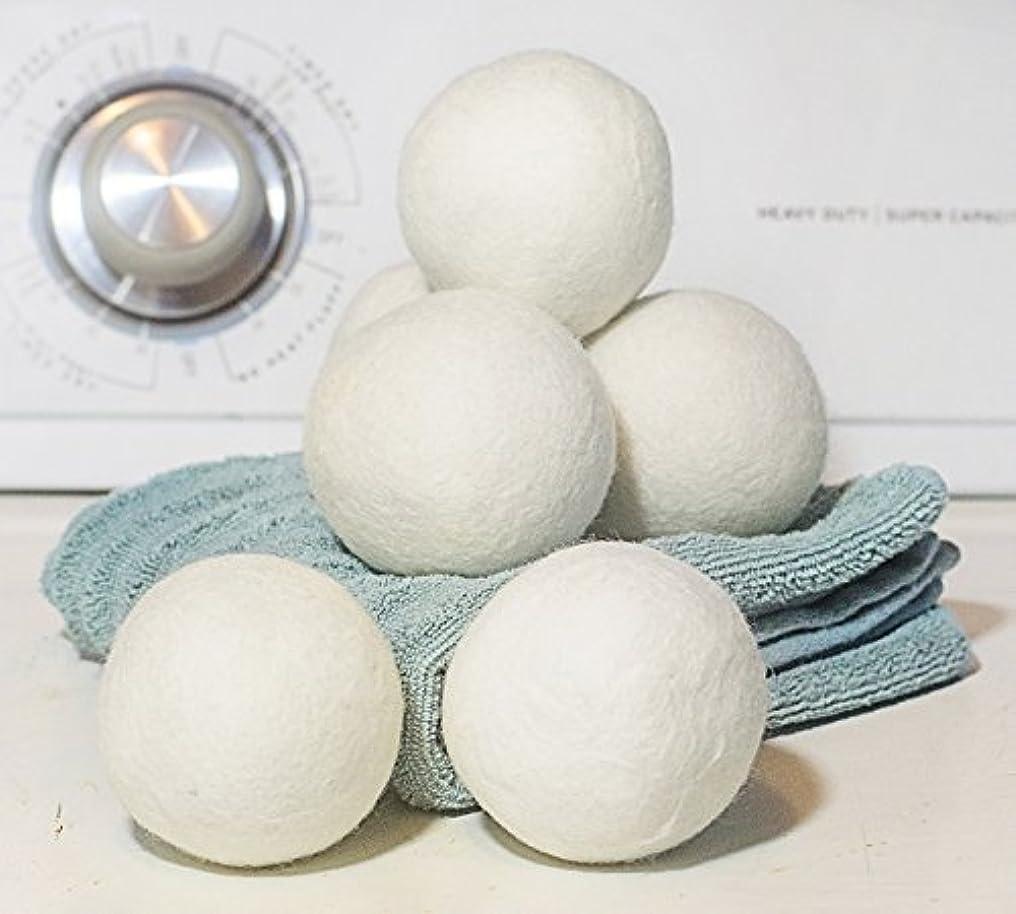 摂動こねるむしゃむしゃドライヤーボール – XLプレミアム100 %有機ウール – 再利用可能な自然柔軟剤ボール 6 Pack RHL005