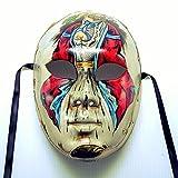 イタリア製 ベネチアン マスク コスプレ 仮面 舞台 コロンビナ 手描き 限定品 壁掛け bce-800cl