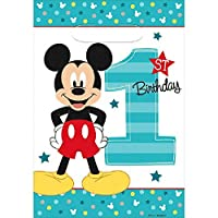 Amscan Amsdd Disney Mickey's Fun to Be One Folded Loot Bags Party Decoration [並行輸入品]