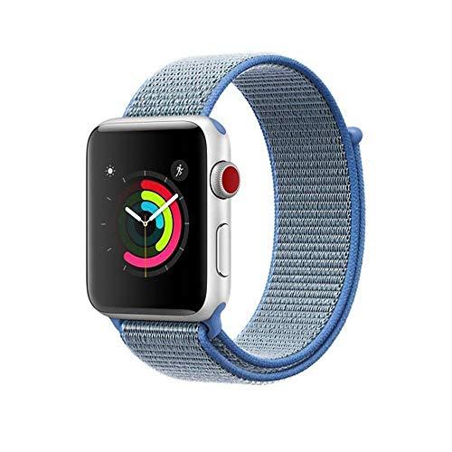 AIGENIU コンパチブル Apple Watch バンド、ナイロンスポーツループバンド Apple Watch Series4/3/2/1に対応 (42mm/44mm, タホブルー)