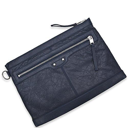 BALENCIAGA バレンシアガ 273022 D9H04/4012 BAG Clutch Blue LAMBSKIN/メンズ/クラッチ [並行輸入品]
