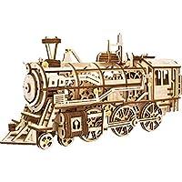 ROKR 動く木製パズル 機関車 LOCOMOTIVE ぜんまい式 レーザーカット 木製 クラフト 349ピース
