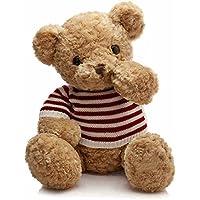 IKASA ぬいぐるみ 特大 くま テディベア 可愛い熊 動物 大きい くまぬいぐるみ 熊縫い包み クマ 抱き枕 お祝い ふわふわ  お人形 女の子 男の子 子供 女性 抱き枕 プレゼント ビッグサイズ (55cm)