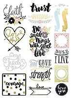Prima Marketing 655350589851 Love Faith Scrap -Stickers [並行輸入品]