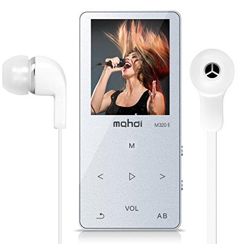OuLe MP3プレーヤー Bluetooth対応 タッチボタン デジタルオーディオプレーヤ usb充电 多機能 HIFI高音質 音楽プレイヤー 運動mp3 FMラジオ 録音 内蔵8GB マイクロSDカード128GB対応 (シルバー)