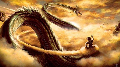 ドラゴンボールZ悟空ライド神龍2015アニメシルクのポスター24X43インチ [並行輸入品]