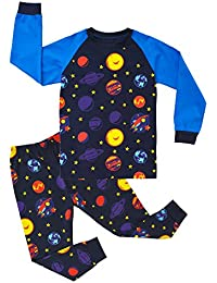 KISBINI 子供用パジャマ ベビー 服 長袖 ルームウェア パジャマ 男の子 女の子 綿100% 春秋用 薄手 上下 セット 部屋着 子供服 2-8歳設定