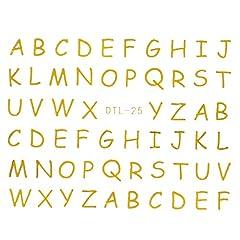 【DTL-25】 ゆるアルファベット【ゴールド】