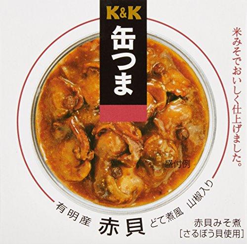 K&K 缶つま 有明産 赤貝どて煮風 山椒入り 箱70g
