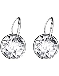 Xuping Mother's Day Sparkle Hoop Earrings Crystals from Swarovski Women Girl Party Jewelry Elegant Mom Birthday Party Gifts