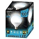 ルミナス LED電球 口金直径26mm 100W相当 昼白色 広配光タイプ 密閉器具対応 ボール球 CM-G100GN