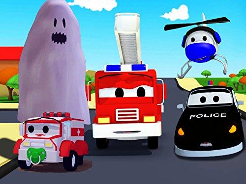 タイラーのいたずら&幽霊は車の都市の赤ちゃんを怖がる そして, 消防車とパトカーのカーパトロール|子供向けのカー&トラックアニメ