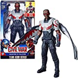 Marvel Year 2015 Captain America Civil War Titan Hero Series 12インチTall Electronic Figure – Marvel 's Falcon with Detachable Wings &サウンド