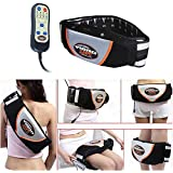 Vinteky Electric Fitness Slimming Massager Machine Waist Trimmer Belt Waist Abdominal Belly Vibro Shape Vibrating Heating Waist Belt for Weight Loss Fat Burning Tool