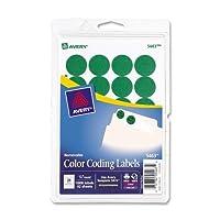 Avery Print/Write Self-Adhesive Removable Labels 0.75 Inch Diameter Green 1008 per Pack (5463) 【Creative Arts】 [並行輸入品]