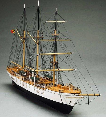 1071 輸入木製帆船模型 マンチュアモデル757 メルカトール