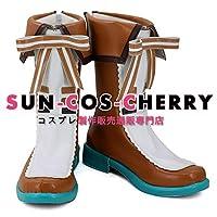 【サイズ選択可】コスプレ靴 ブーツ K-2649 バーチャルアーティスト 鴨見カモミ Camomi 女性22CM