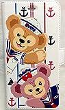 ダッフィー&シェリーメイ iPhone 6 / iPhone 6S スマホケース 手帳型 白 【海外ディズニーランド】正規品
