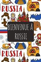 Bienvenue à Russie: 6x9 Carnet de voyage I Journal de voyage avec instructions, Checklists et Bucketlists, cadeau parfait pour votre séjour   et pour chaque voyageur.