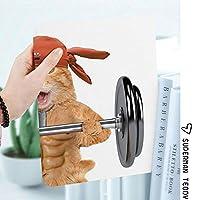 iPad 2/3/4 対応 2つ折りケース スタンド機能 オートスリープ超薄型 傷つけ防止ケース 手帳型カバー 環境にやさしい材質大きなダンベル筋肉質のキティボディビルディングジムユーモア画像装飾リフティングフィットネス猫