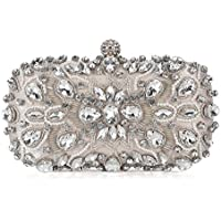 Chichitop Women Noble Crystal Beaded Evening Bag Wedding Clutch Purse