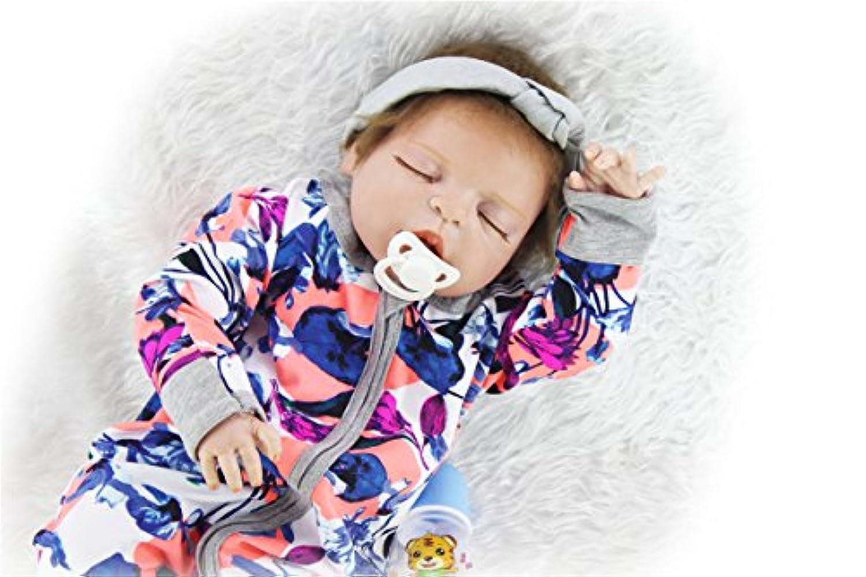 SanyDoll Rebornベビー人形ソフトSilicone 22インチ55 cm磁気Lovely Lifelikeキュートかわいいベビーマルチカラーモザイク人形