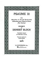 Ernest Bloch: Psaume 22 (Baritone/Piano) / エルネスト・ブロッホ: 詩篇22 (バリトン/ピアノ) 楽譜