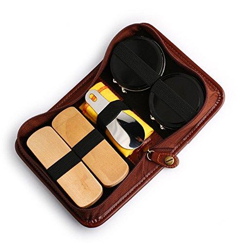 [GApex] 靴磨きセット シューケアセット グランブルーセット(革靴用)靴の手入れに適用される日常 コンパクトで携帯にも便利