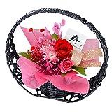 花由 和風 プリザーブドフラワー 花宵月 レッド-寿