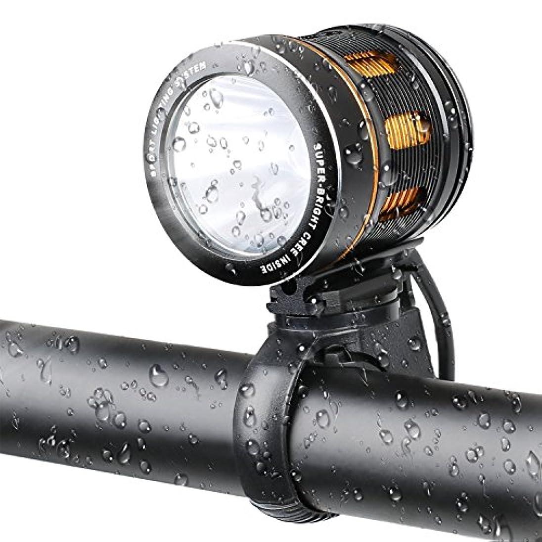 料理幻想的しなやかEcat 1000ルーメン懐中電灯、6モード、自転車ライトクリーXM-L T6 LEDヘッドランプサイクリング自転車ライト防水ヘッドライトキャンプ用釣りライト(内蔵バッテリなし)